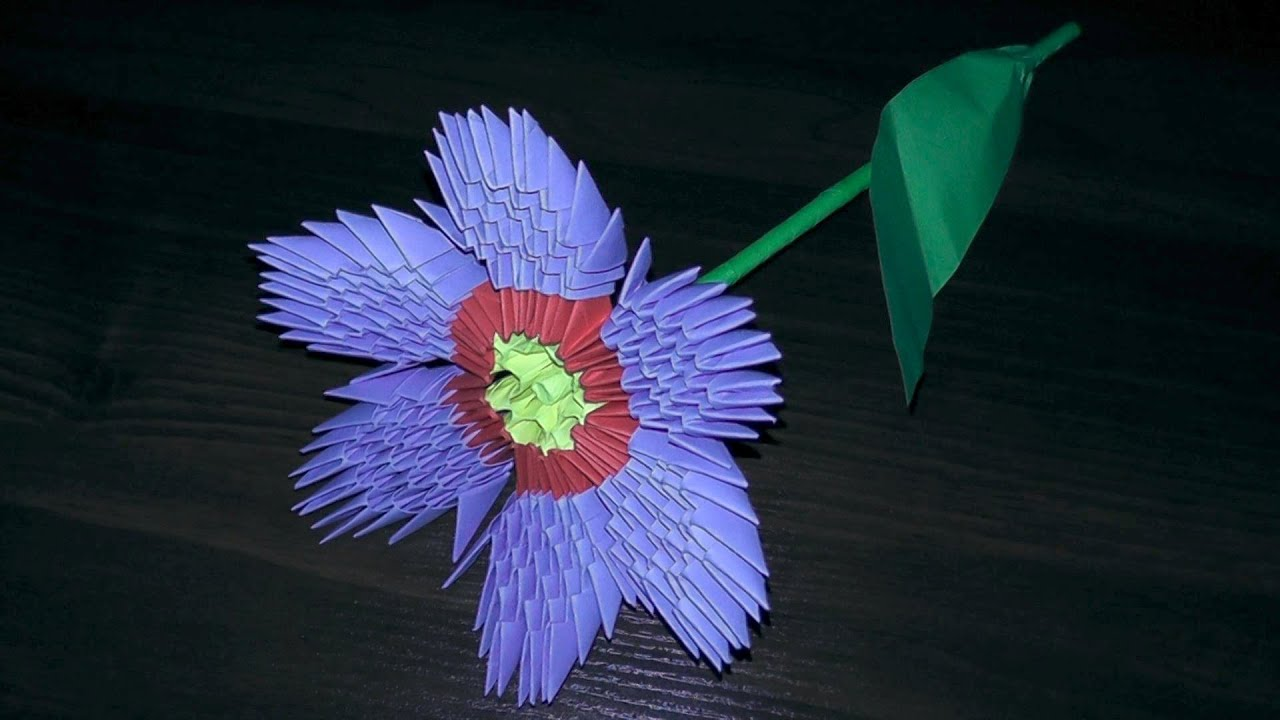 3D origami flower primula primrose tutorial (instruction ... - photo#46
