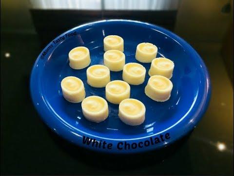 How To Make Milk Chocolate-Homemade White Chocolate Recipe-Milkybar White Chocolate(Easy Recipe !)