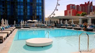Tour of The New Pool at the Linq Hotel & Casino in Las Vegas. You c...