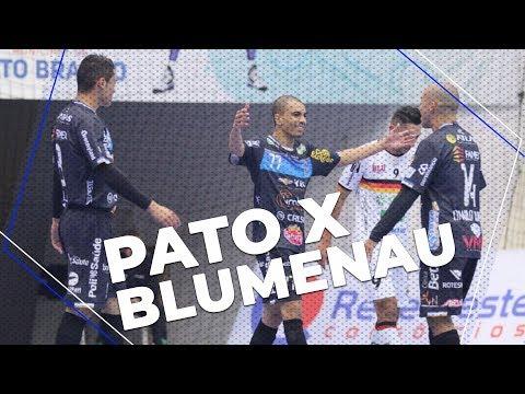 PATO FUTSAL 7 x 1 BLUMENAU - GOLS E ENTREVISTAS - LNF 2018