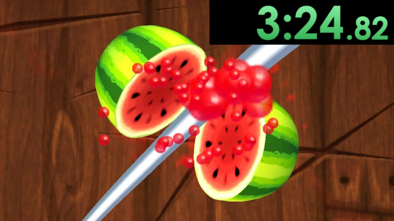 I decided to speedrun Fruit Ninja and it was more intense than I remembered