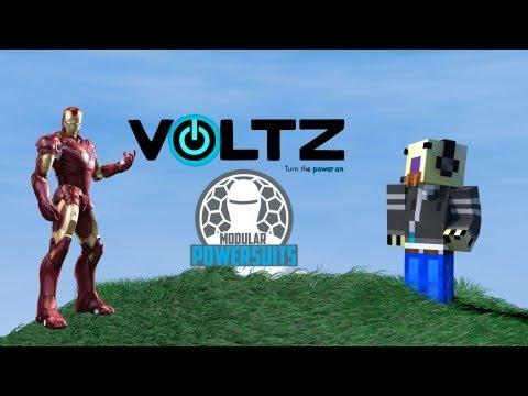 Minecraft Voltz Tutorial : Iron Man Suit (Modular Power Suit)