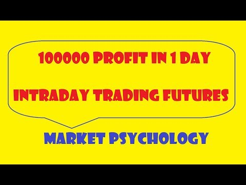 100000 profit in intraday by short selling futures
