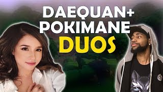 POKIMANE DUOS WITH DAEQUAN | FUN KILLS | TIPS TO GETTING BETTER - (Fortnite Battle Royale)