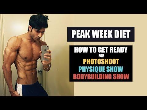 PEAK WEEK Diet for PhotoShoot, Physique Show & Bodybuilding Show DEPTH info by Guru Mann