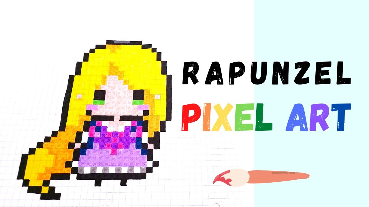 Pixel Art How To Draw Rapunzel Youtube