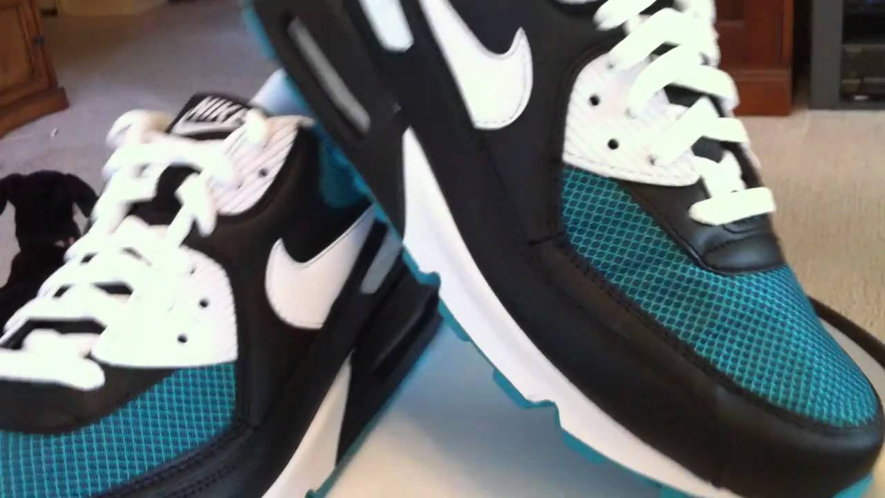 the best attitude 984a4 10303 NIKE Air Max 90 - Black   White   Turbo Green... - YouTube