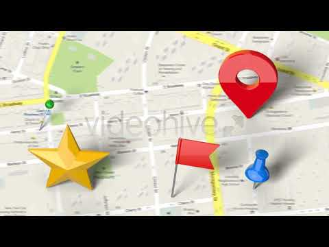 Map Generator with Real 3D Markers - Free Download After Effects Project  ,Template