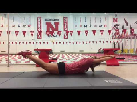 Nebraska Swimming Dryland Video