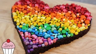 Rainbow Chocolate Brownies - The Best Chocolate Brownie Recipe Ever | My Cupcake Addiction