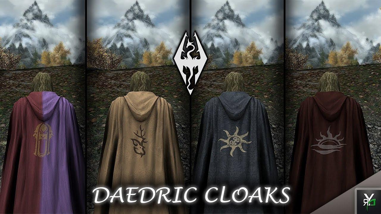 Daedric Cloaks Clothing Mod Xbox Ragnarok Mod Showcase Youtube