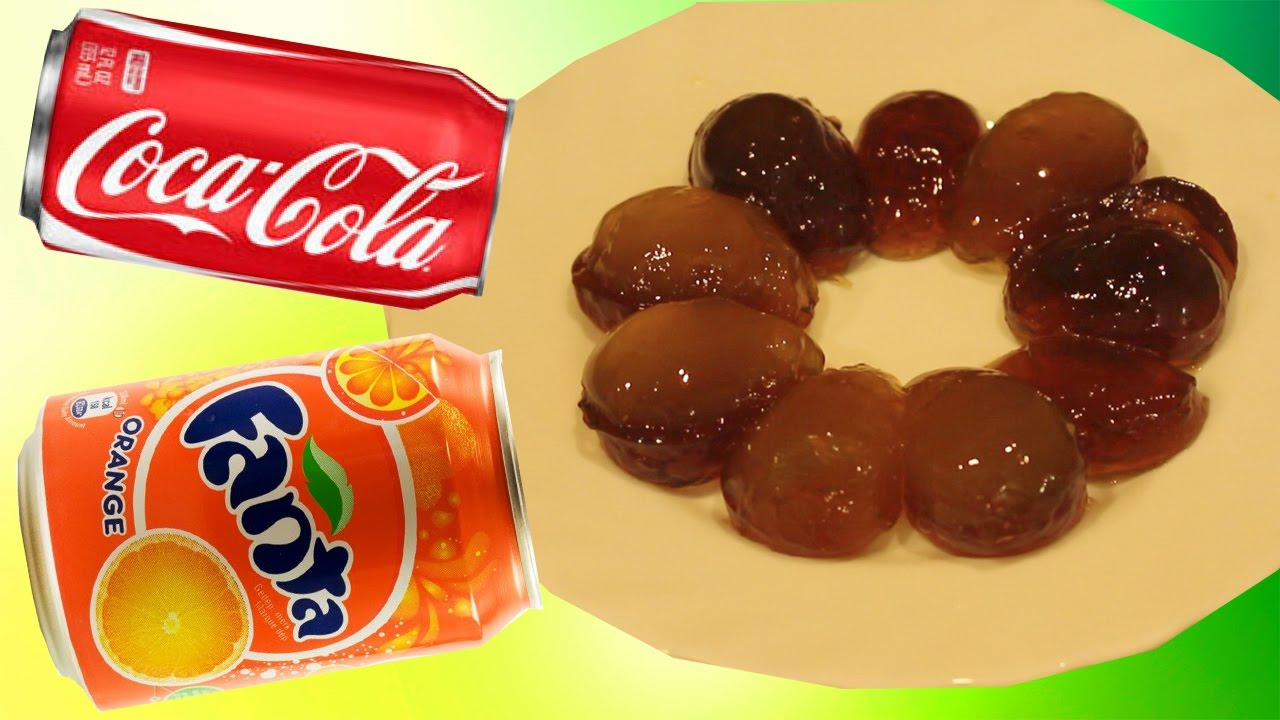 Желейные конфеты #ЯЙЦА из кока колы и фанты своими руками Jelly sweets Eggs from Coca-Cola Fanta