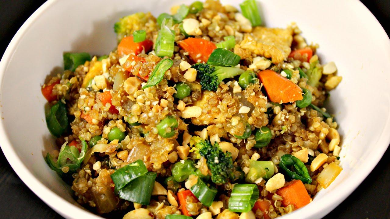 """Quinoa Stir Fry   (Quinoa Fried """"Rice"""")"""