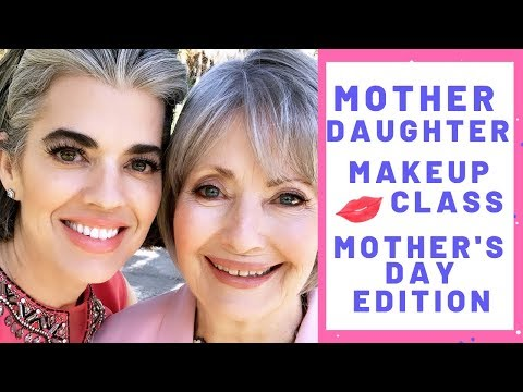 70-Year-Old MOTHER DAUGHTER MATURE MAKEUP TUTORIAL | MOTHER'S DAY EDITION