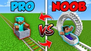 Minecraft NOOB vs. PRO : SWAPPED ROLLERCOASTER in Minecraft (Compilation)