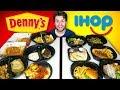 IHOP DINNERS vs. DENNY'S DINNERS - $200 Restaurant Taste Test!