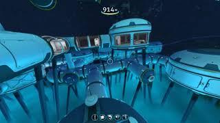 Subnautica. База в затерянной реке. Постройка пришельцев. Добыча кианита.