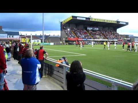 Crusaders v Fulham Europa Cup 2011/12 (Danny Murphy pen)