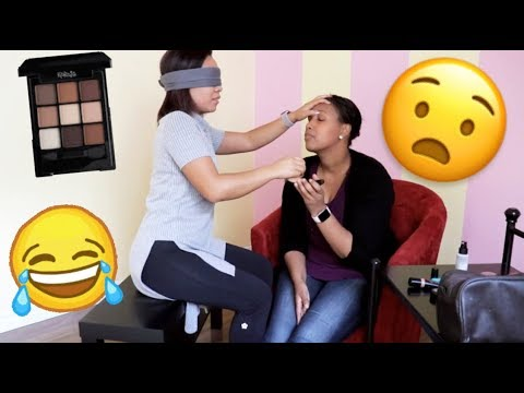MY BESTFRIEND DID MY MAKE UP BLINDFOLDED | FOE Sisters