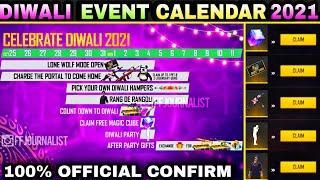 free fire diwali event calendar,free fire diwali event 2021,diwali event free fire 2021