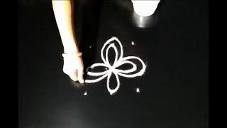 easy beginners rangoli designs - simple friday kolam - creative muggulu designs
