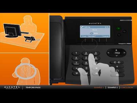 Examples with Alcatel Temporis IP phones
