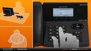 Examples with Alcatel Temporis IP phones