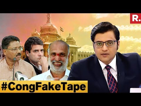 Congress Admits Fake Tape: Will Rahul Gandhi Apologise? | The Debate With Arnab Goswami
