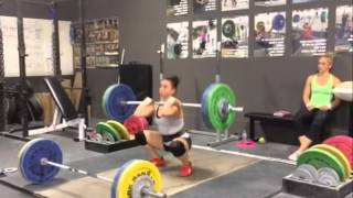 Alyssa Clean & Jerk Double 84 kg (185 lbs) at 63 kg bodyweight