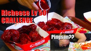 MULUT KEBAKAR!! RICHEESE FIRE CHICKEN LEVEL 50 CHALLENGE | SPECIAL 600K Subs | #BeraniCoba