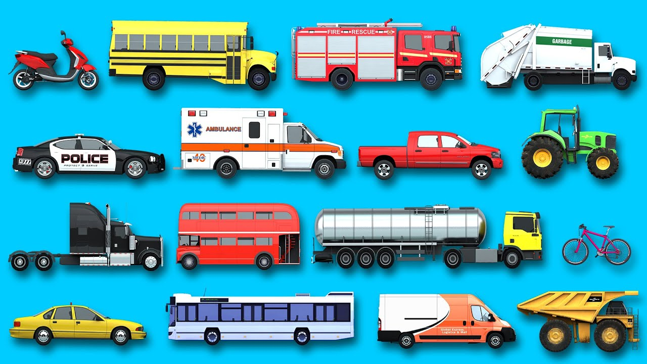 Learning Street Vehicles Names And Sounds For Kids With