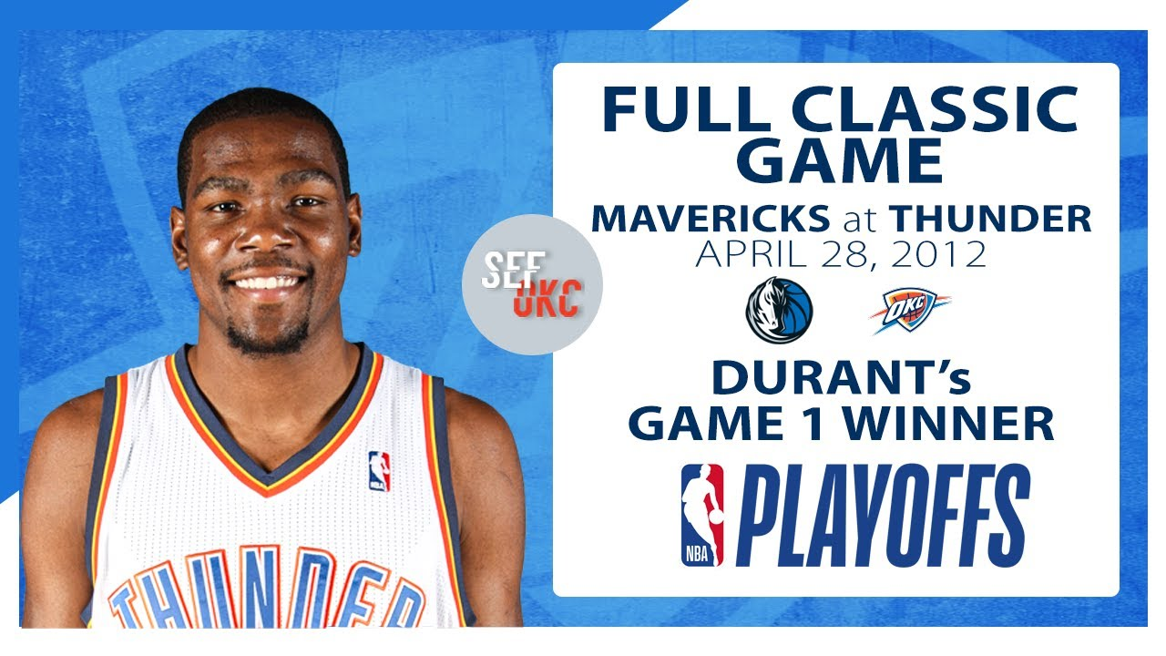 Download FULL CLASSIC GAME: Kevin Durant Hits Game Winner vs Mavericks | 2012 Playoffs G1 - 4.28.12