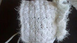 Детская шапочка (чепчик) вязание крючком ч.1. Baby hat (cap) Crochet Part 1.