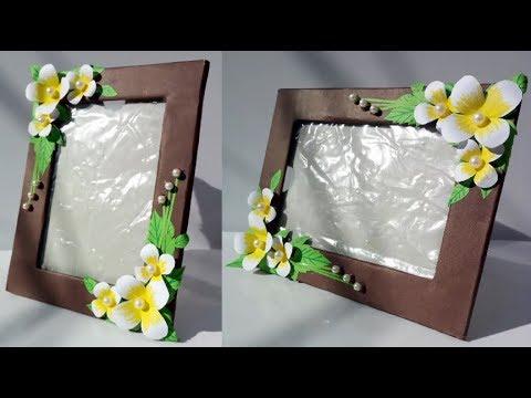 DIY Paper Flower Photoframe// How To Make A Unique Phtoframe At Home// Easy Paper Photoframe//