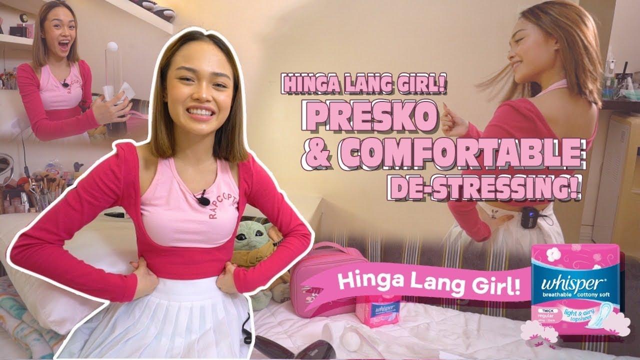 HINGA LANG GIRL! HOW I DE-STRESS AT HOME | Andree Bonifacio