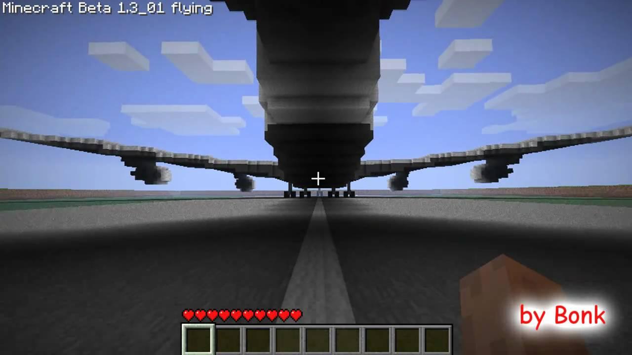 Minecraft Airplane Boeing 747 200 Youtube