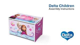 Delta Children Toy Box Assembly Video