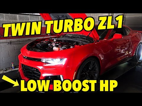 TWIN TURBO Camaro ZL1 FIRST DYNO RESULTS!!