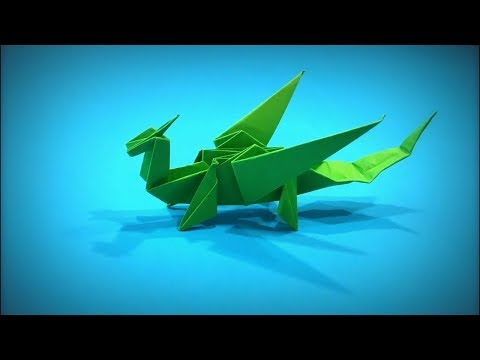 How to Make a Paper Dragon DIY - Easy Origami Step by Step ver. 2