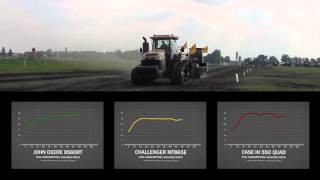 Сравнение расхода топлива трактора Challenger MT800E с другими тракторами