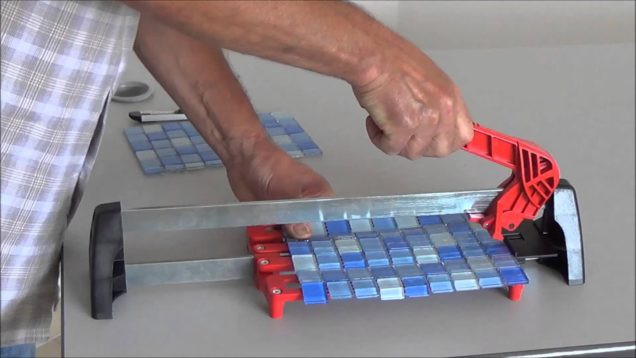 Cutting Glass Mosaic Tile Backsplash