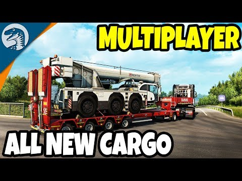 ALL NEW: HEAVY CARGO CONVOY & NEW STOPS | Euro Truck Simulator 2 Multiplayer Gameplay