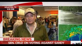Ted Cruz's Disaster Relief Hypocrisy Gets Called Out As He Begs For Federal Money