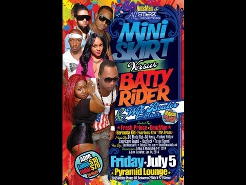 Antsman & AllStarz Promotions Mini Skirt vs Batty Rider and Wife Beater Affair 7-5-13