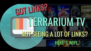 NOT Seeing Many Links in TERRARIUM? Check this out..