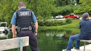 COPS show up while Bluegill Fishing. EP 22