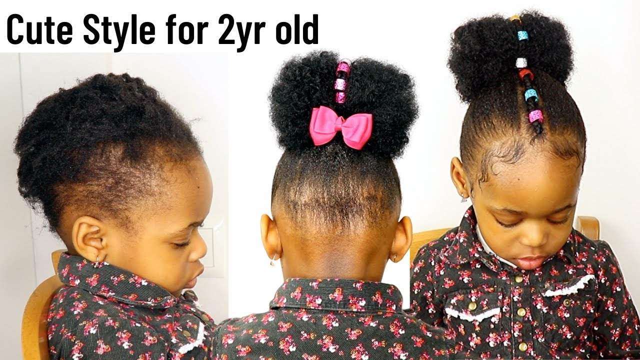 Christmas Holiday Hairstyle For Toddlers Kids With Short Natural Hair Little Black Girls Youtube