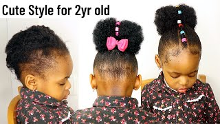 Easter Hairstyle for Toddlers| kids with Short Natural Hair. Little black girls/4C Natural Hair kids