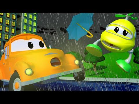 ВЕРТОЛЁТ Малыш Гектор ВРЕЗАЛСЯ в летящий ЗОНТИК - Автомобильный Город  🚗 детский мультфильм