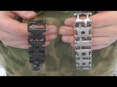 Про браслет мультитул Leatherman Tread LT и широкие Black / Stainless. Обзор и сравнение